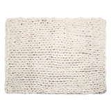 Chunky Knit Blanket Beige_