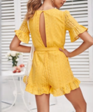 NHS Love Lace Jumpsuit Yellow_