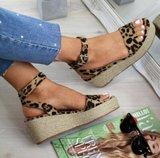 NHS Plateau Sandal Leopard_