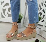 NHS Plateau Sandal Rose Gold_