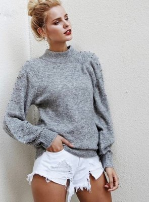 NHS Sparkle Sleeve Sweater Grey