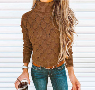 NHS Col Sweater Cognac