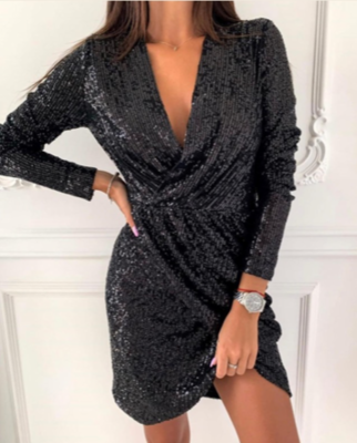 NHS Sparkle Dress Black