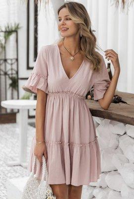 Flowy Open Back Dress Pink