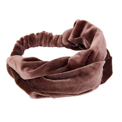 Velvet Haarband Rosy Beige