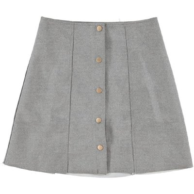 Desi Button Skirt Grey