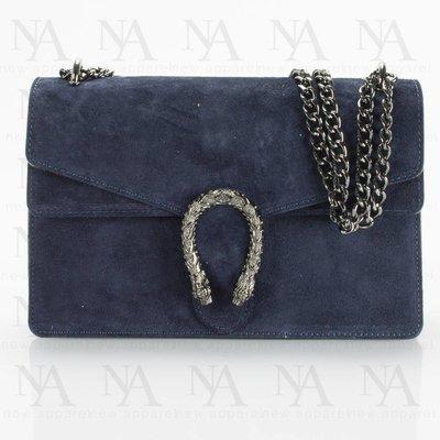 Double Flap G-bag Suede Blue