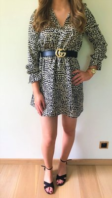 Mila Leopard Dress Black