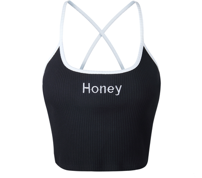 Honey Crop Top Black