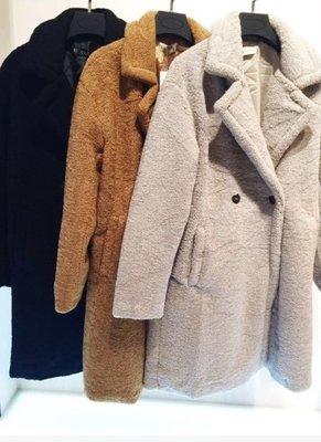 Teddy Long Coat Black