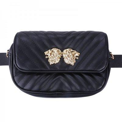 Lion Waist Bag  Black