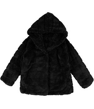 Faux Fur Coat Black