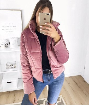Velvet Coat Pink