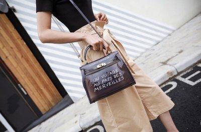 Transparent Bag Small L'exposition Black