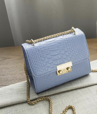 Croco Bag Blue