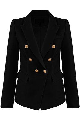 Button Blazer Black