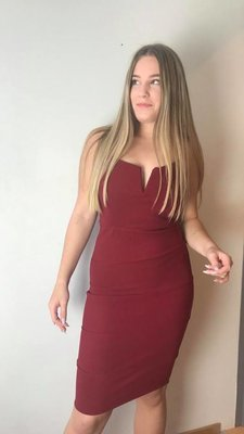 Lux V-Dress Bordeaux