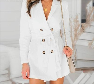 NHS Blazer Dress White