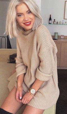NHS Sweaterdress Beige