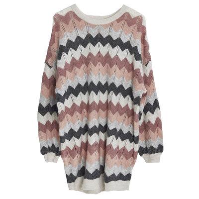 Sweaterdress Pink-Grey