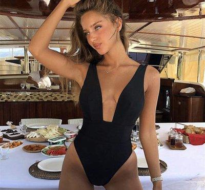Coco V-Swimsuit Black