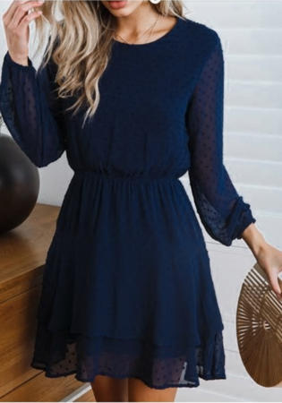 NHS Dots Dress Blue