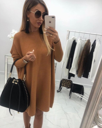 NHS Sweaterdress Cognac