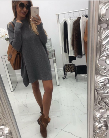 NHS Sweaterdress Grey