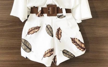 NHS Feather Belt Short White