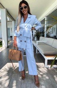 Sam Pocket Suit Blue