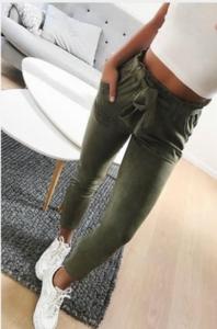 NHS Suede Pants Green