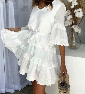 NHS Sleeve Ruffle Dress