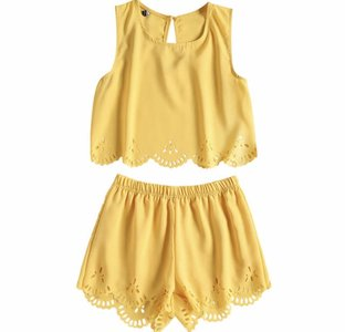 NHS Yellow Two Piece Set