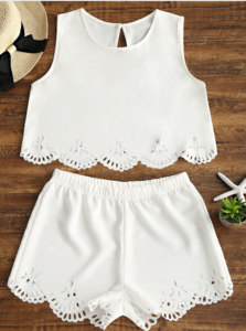 NHS White Two Piece Set