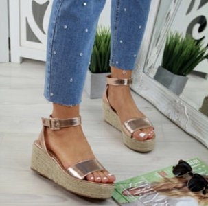NHS Plateau Sandal Rose Gold