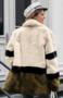 NHS Tri Colour Faux Fur Coat