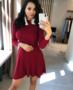 NHS Mlliy Dress Bordeaux