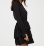NHS Bow Sleeve Dress Black