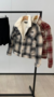 NHS Checkered Fur Coat Black-Beige