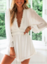 Ruffle Jumpsuit White