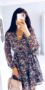 Mira Flower Tie Dress Black