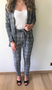 Classy Checkered Suit Grey