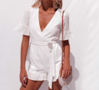 NHS Love Lace Jumpsuit White