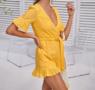 NHS Love Lace Jumpsuit Yellow